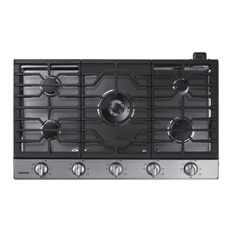 Samsung Premium 5-Burner Gas Cooktop (Stainless Steel) (Common: 36-in; Actual: 36-in)