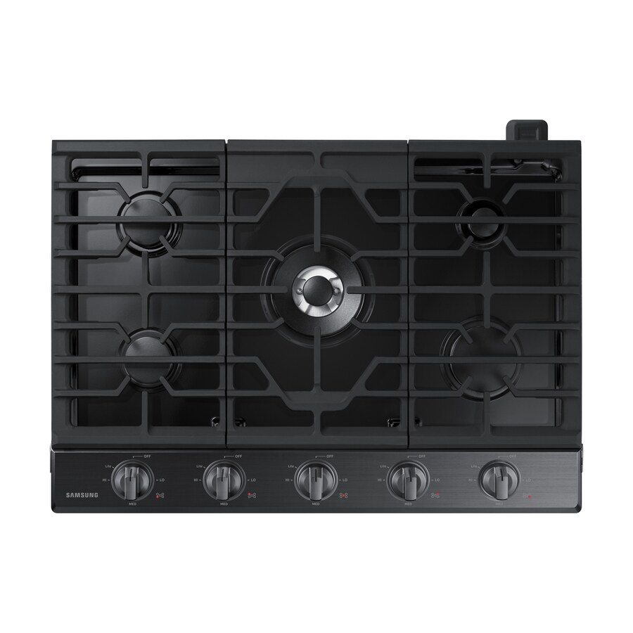 Samsung Premium 5-Burner Gas Cooktop (Black Stainless Steel) (Common: 30-in; Actual: 30-in)