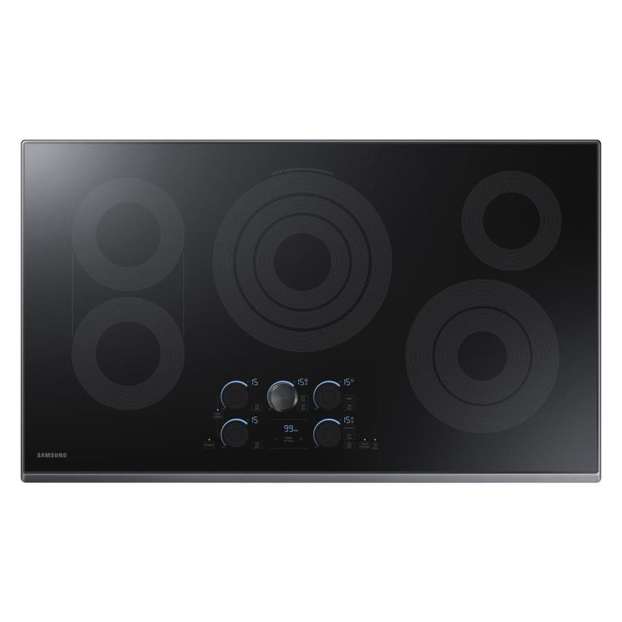 Samsung Premium Plus 5-Element Smooth Surface (Radiant) Electric Cooktop (Black Stainless Steel) (Common: 36-in; Actual 36-in)