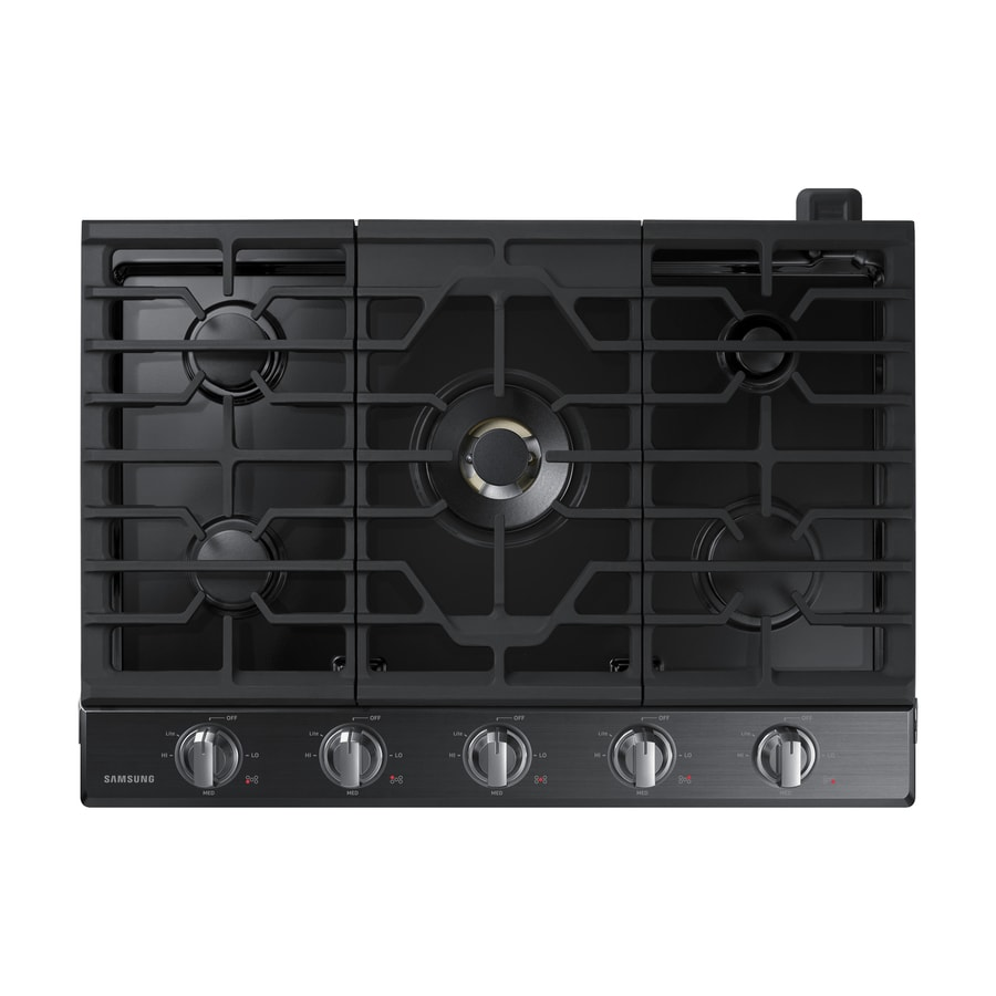 Samsung Premium Plus 5-Burner Gas Cooktop (Black Stainless Steel) (Common: 30-in; Actual: 30-in)