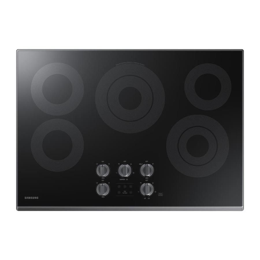 Samsung Premium 5-Element Smooth Surface Electric Cooktop (Black Stainless Steel) (Common: 30-in; Actual 30-in)