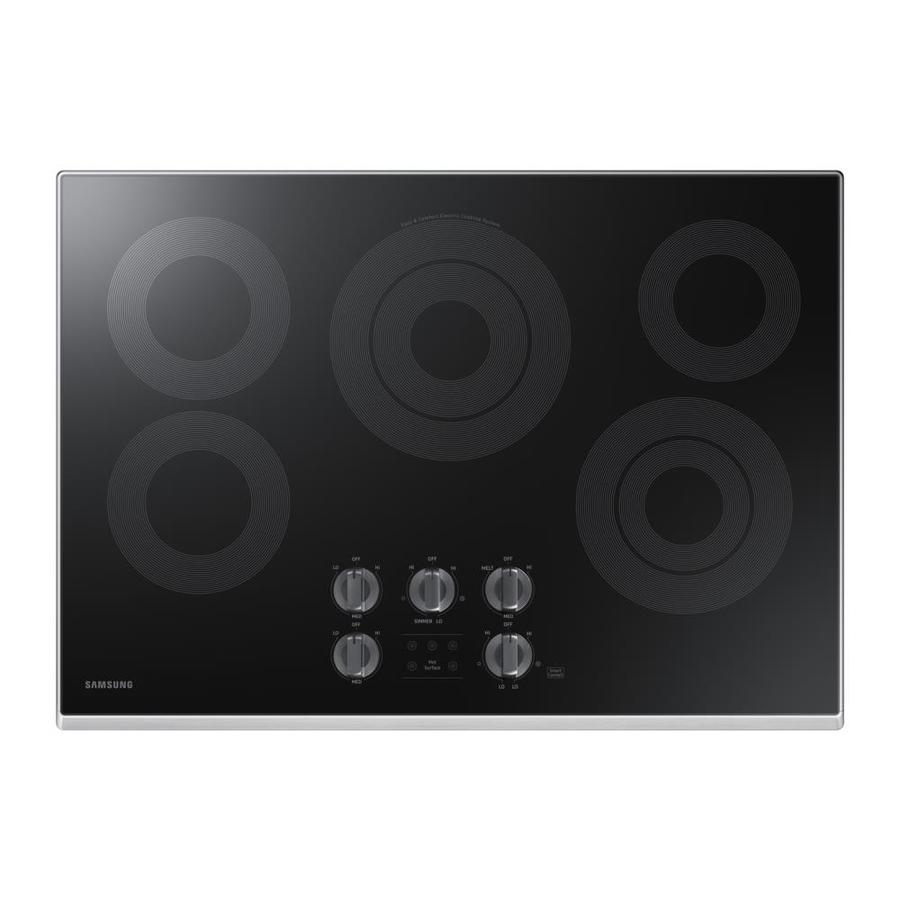 Samsung Premium 5-Element Smooth Surface Electric Cooktop (Stainless Steel) (Common: 30-in; Actual 30-in)