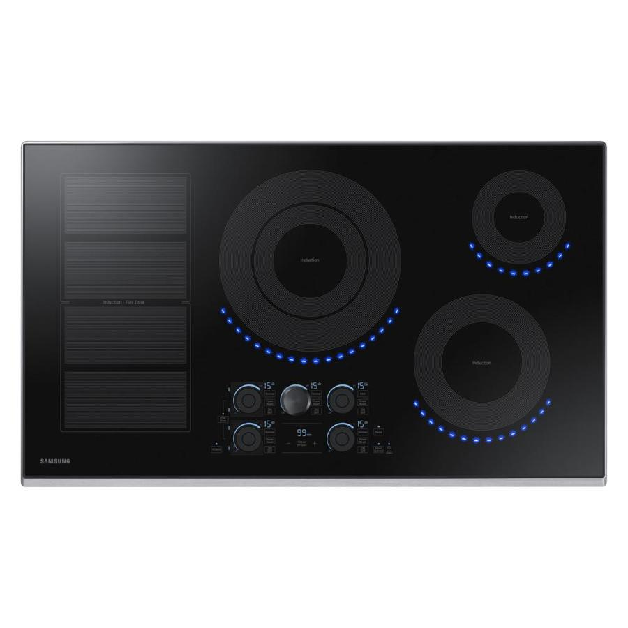 Samsung Premium Plus 5-Element Smooth Surface Induction Electric Cooktop (Stainless Steel) (Common: 36-in; Actual 36-in)