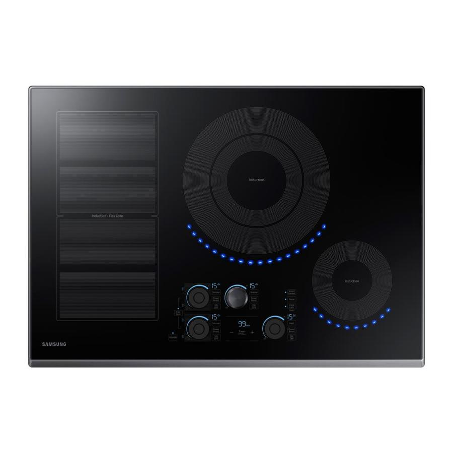 Samsung Premium Plus 5-Element Smooth Surface Induction Electric Cooktop (Black Stainless Steel) (Common: 30-in; Actual 30-in)