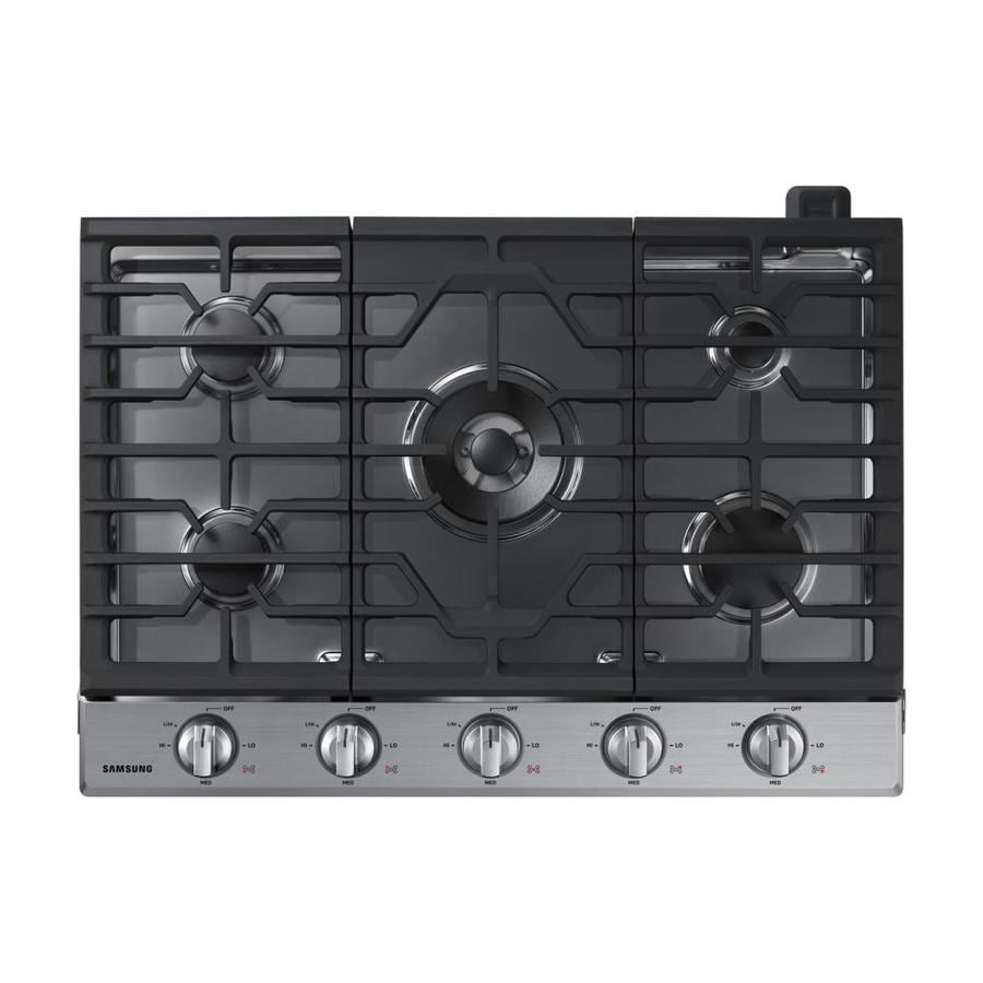 Samsung Premium 5-Burner Gas Cooktop (Stainless Steel) (Common: 30-in; Actual: 30-in)