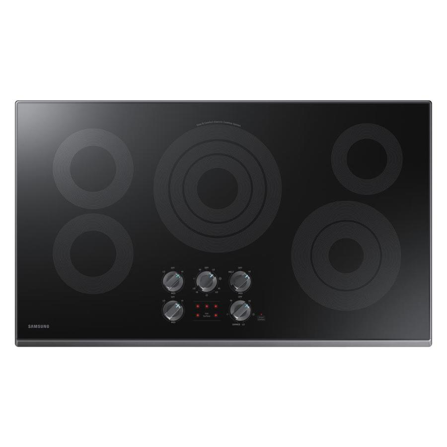 Samsung Premium 5-Element Smooth Surface Electric Cooktop (Black Stainless Steel) (Common: 36-in; Actual 36-in)
