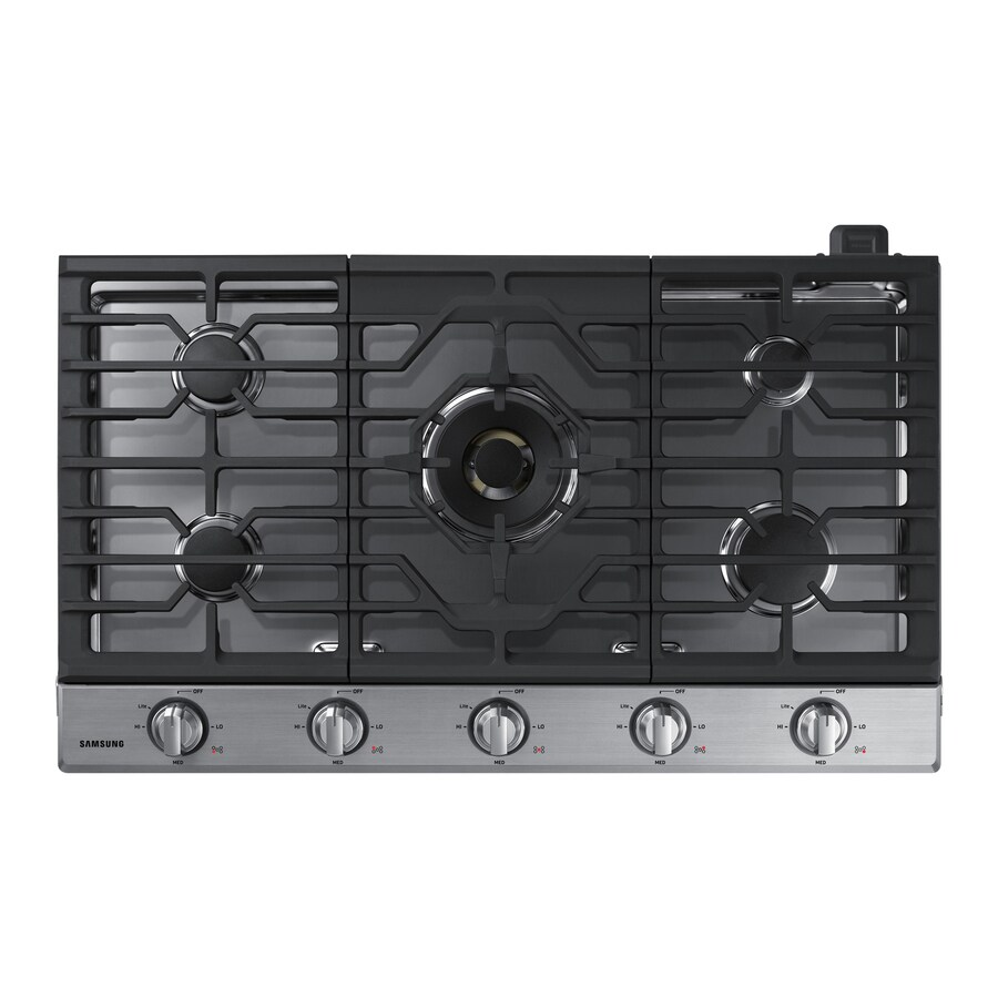 36 inch gas cooktop with downdraft - Samsung Premium Plus 5 Burner Gas Cooktop Stainless Steel Common 36