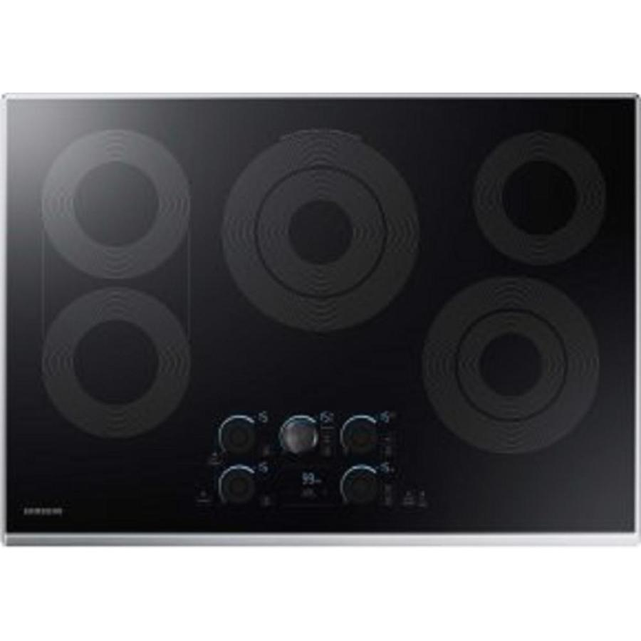 Samsung Premium Plus 5-Element Smooth Surface Electric Cooktop (Stainless Steel) (Common: 30-in; Actual 30-in)