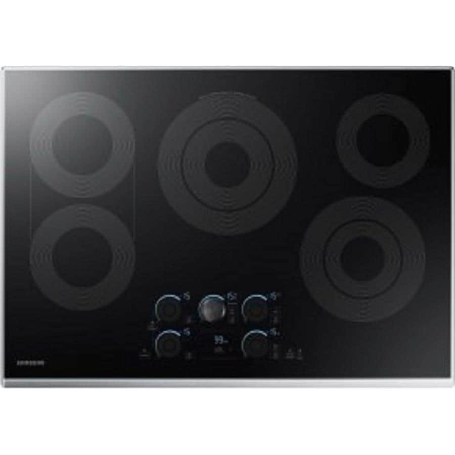 Samsung Premium Plus 5-Element Smooth Surface (Radiant) Electric Cooktop (Stainless Steel) (Common: 30-in; Actual 30-in)