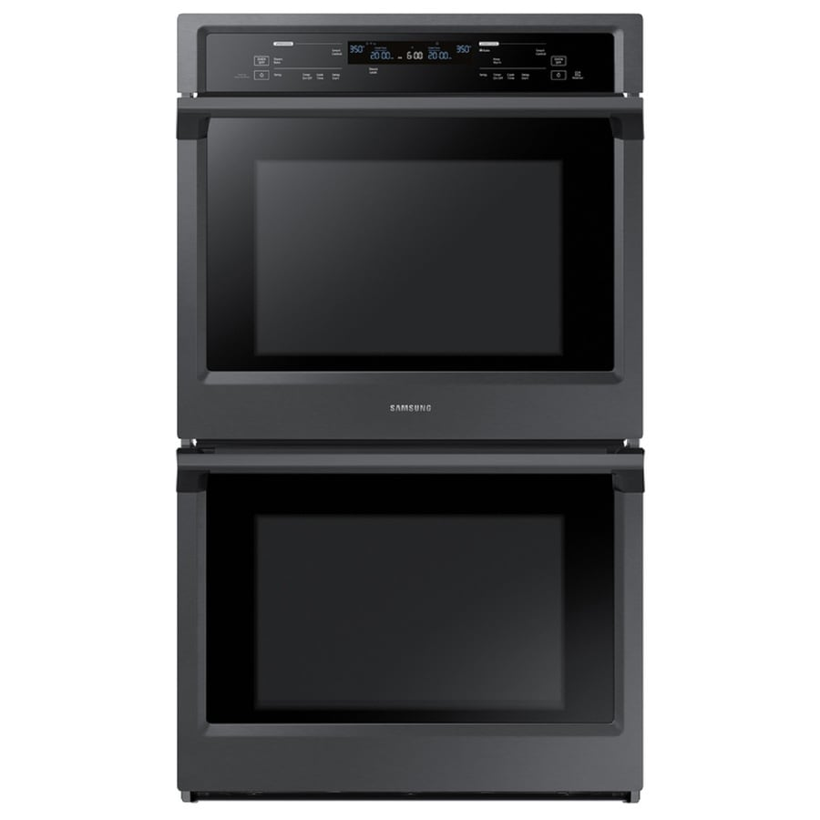 Samsung Steam Cook Self-Cleaning Convection Double Electric Wall Oven (Black Stainless Steel) (Common: 30-in; Actual: 28.75-in)