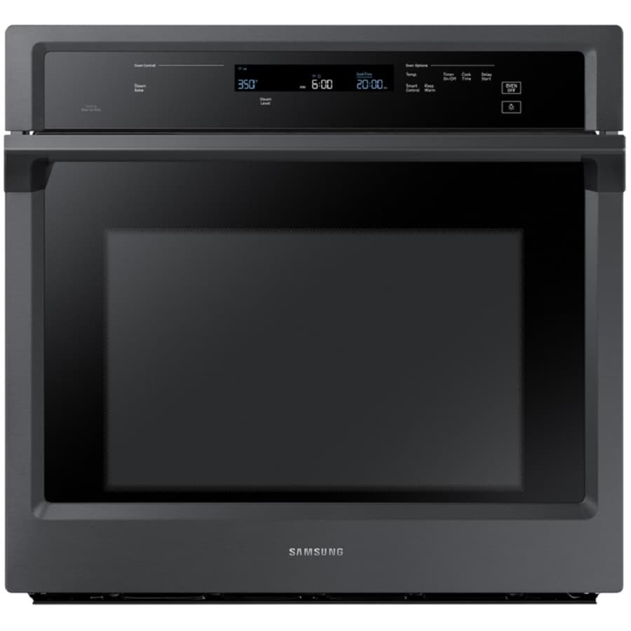 Samsung Premium Self-Cleaning Convection Single Electric Wall Oven (Black Stainless Steel) (Common: 30-in; Actual 28.75-in)