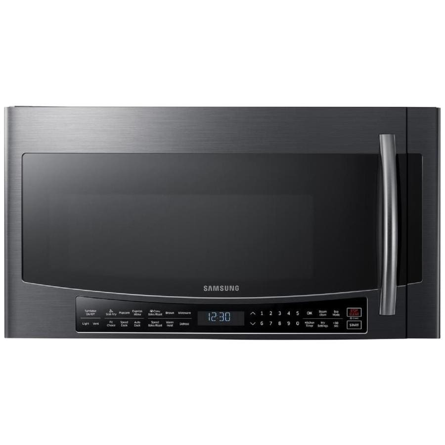 Samsung 1 7 Cu Ft Over The Range Convection Microwave And Sd Cook