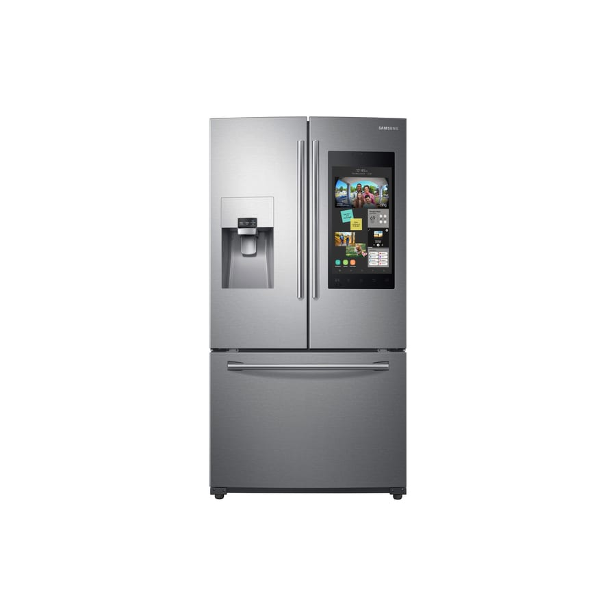 Samsung Family Hub 24.2-cu ft French Door Refrigerator with Ice Maker (Stainless Steel) ENERGY STAR