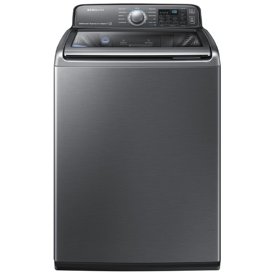 Samsung Activewash with Built In Sink 4.8-cu ft High-Efficiency Top-Load Washer (Platinum) ENERGY STAR