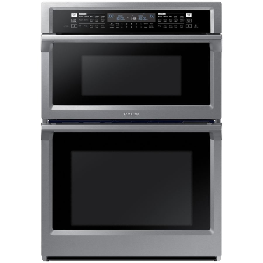 Samsung Self Cleaning Convection Microwave Wall Oven Combo Stainless Steel Common