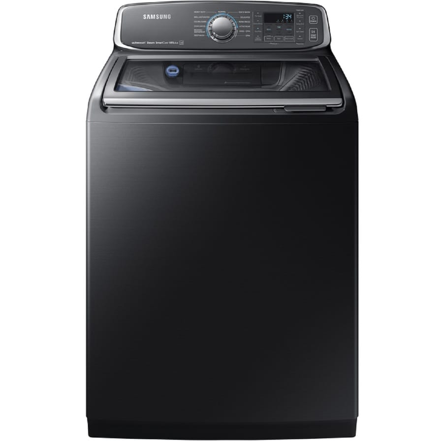 Samsung Activewash 5.2 Cu Ft High Efficiency Top Load Washer (Black Stainless Steel) Energy Star by Lowe's