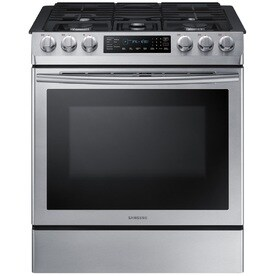 Awesome Samsung 5 Burner 5.8 Cu Ft Self Cleaning Slide In Convection Gas