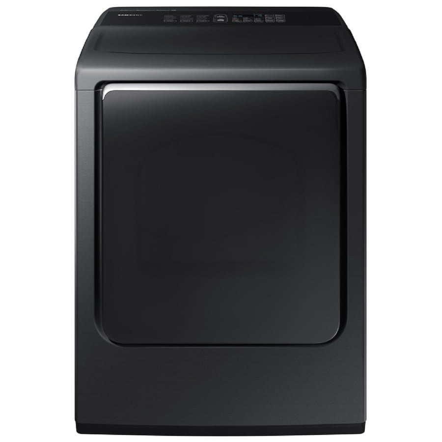 Samsung 7.4-cu ft Electric Dryer (Black stainless steel) ENERGY STAR