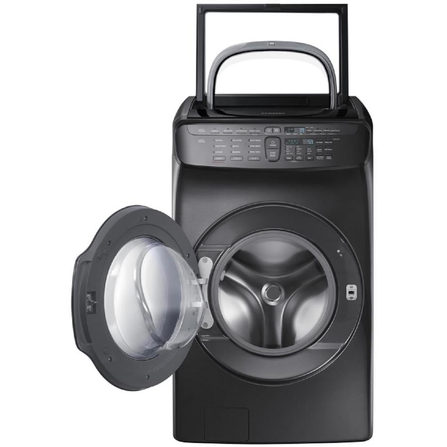 Samsung FlexWash 5.5 Total-cu ft High Efficiency Front-Load Washer (Black Stainless Steel) ENERGY STAR