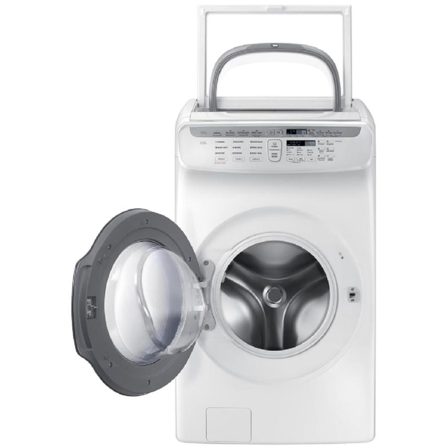 samsung flexwash 55 totalcu ft high efficiency frontload washer white