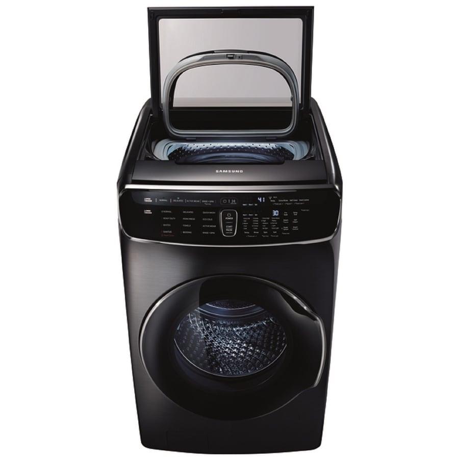 Samsung FlexWash 6-cu ft High Efficiency Front-Load Washer (Black Stainless Steel)