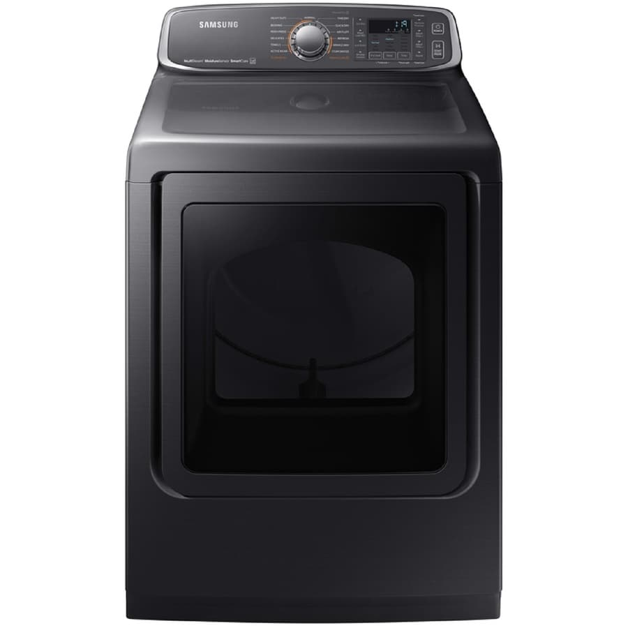 Samsung 7.4-cu ft Gas Dryer (Black Stainless Steel) ENERGY STAR