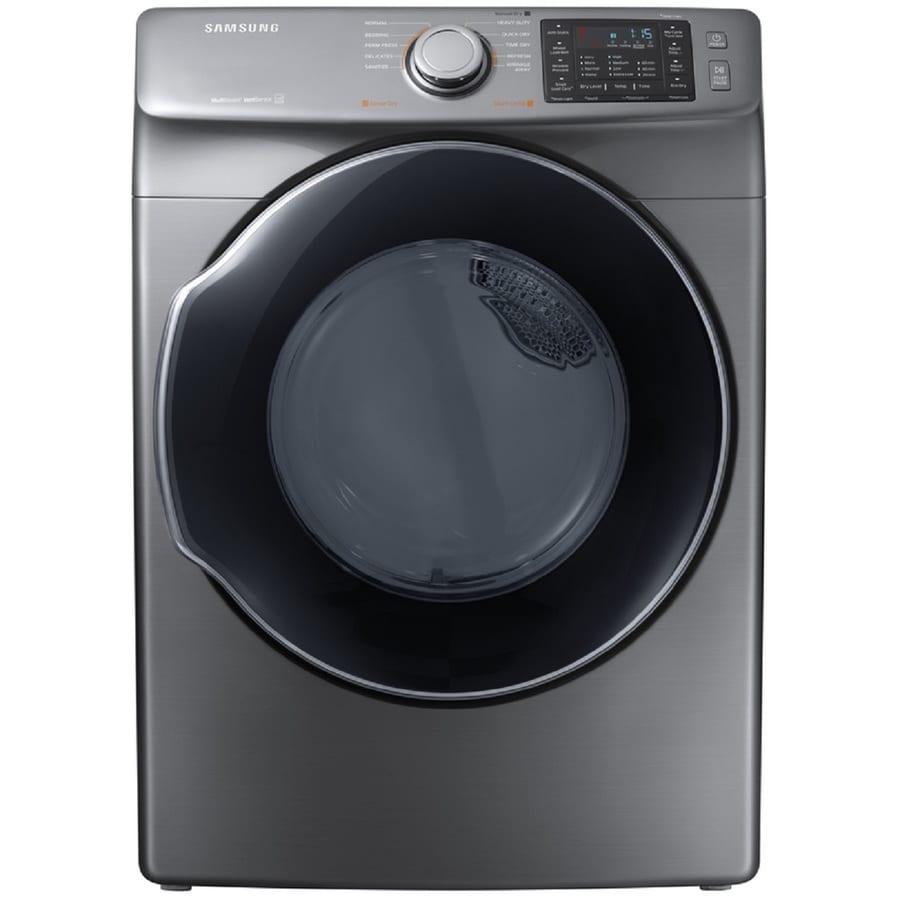 Samsung 7.5-cu ft Stackable Gas Dryer (Platinum) ENERGY STAR