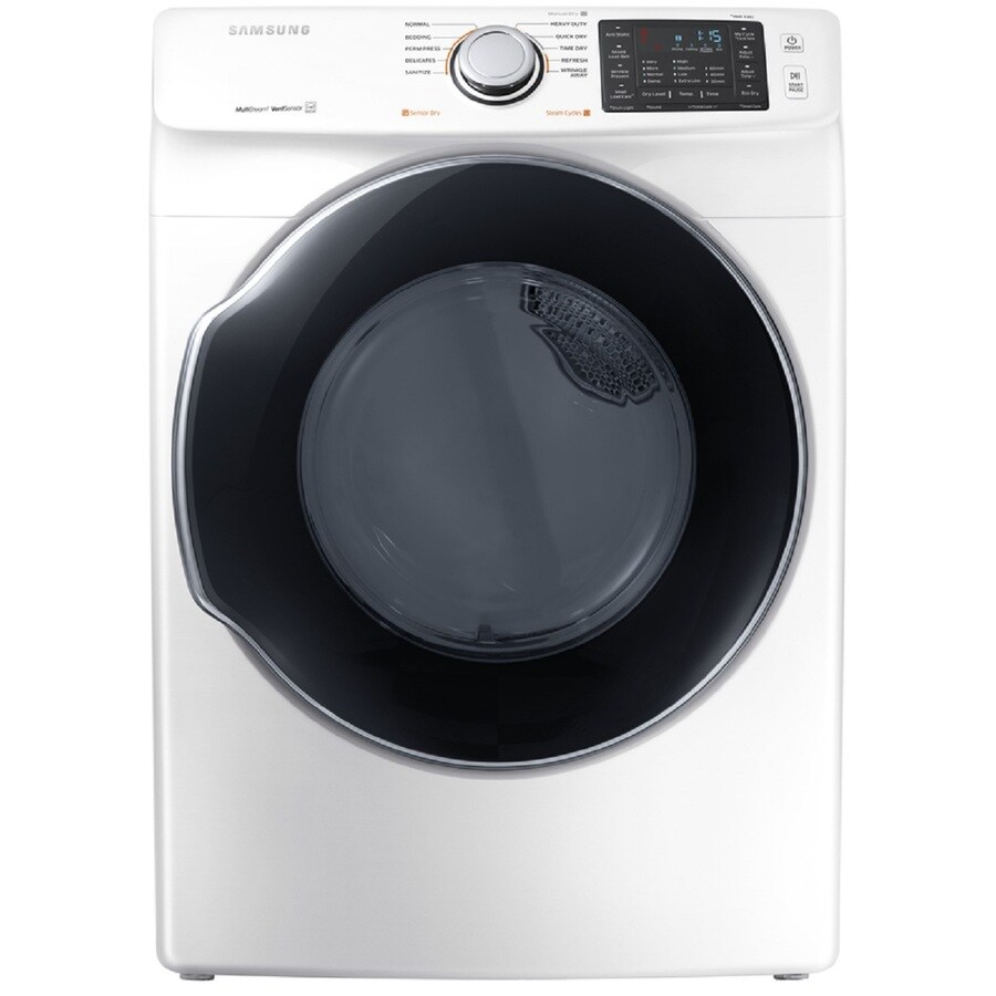 Samsung 7.5-cu ft Stackable Gas Dryer (White) ENERGY STAR