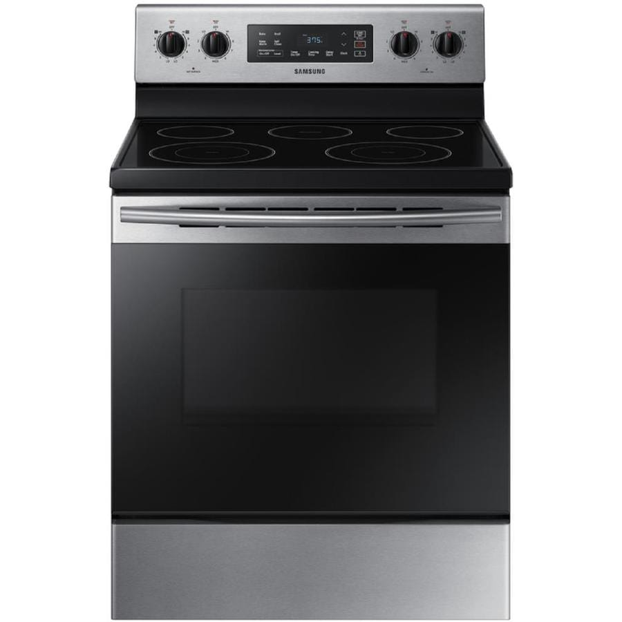 lowes electric range. Samsung Smooth Surface Freestanding 5-Element 5.9-cu Ft Self-cleaning Electric Range Lowes