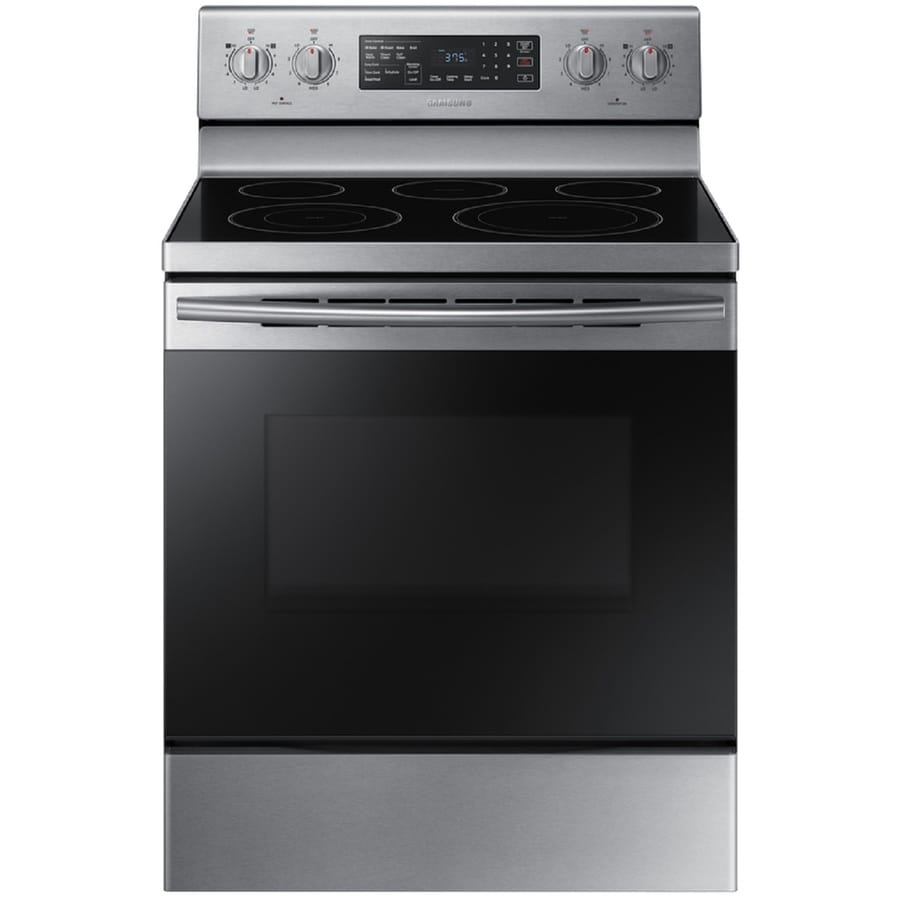 Samsung Smooth Surface 5 Element 9 Cu Ft Self Cleaning Convection Freestanding Electric