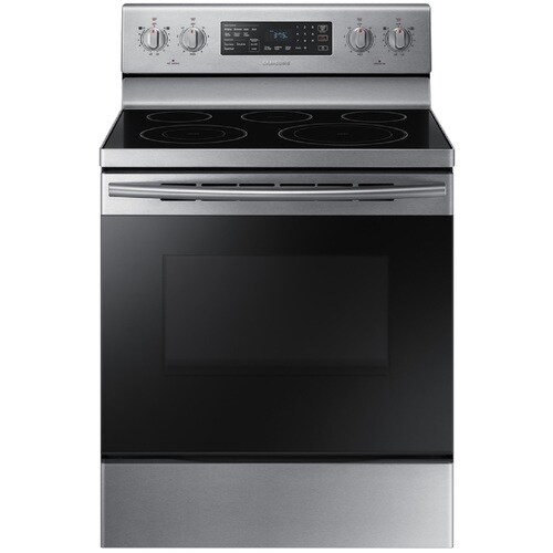 Samsung Smooth Surface 5 Elements 5.9-cu ft Self-Cleaning Convection Freestanding Electric Range (Stainless Steel) (Common: 30-in; Actual: 29.875-in) at Lowes.com
