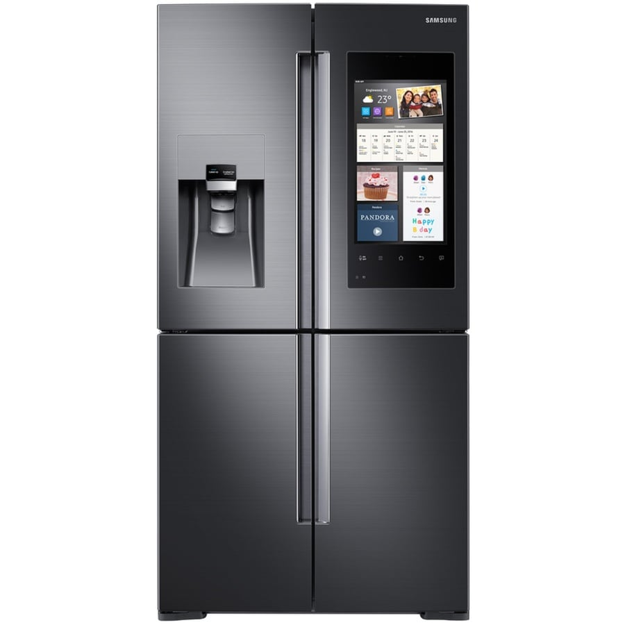shop samsung 4 door flex with family hub 27 9 cu ft 4 door. Black Bedroom Furniture Sets. Home Design Ideas
