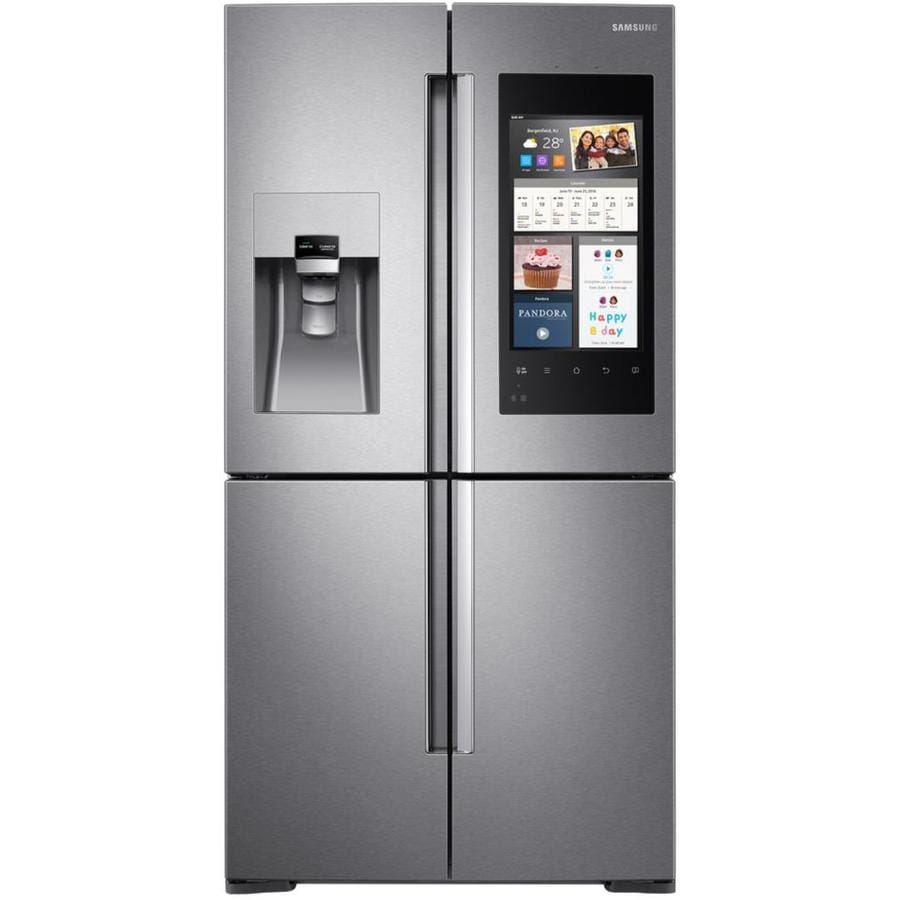 Samsung 4-Door Flex with Family Hub 27.9-cu ft 4-Door French Door Refrigerator with Ice Maker (Fingerprint-Resistant Stainless steel) ENERGY STAR