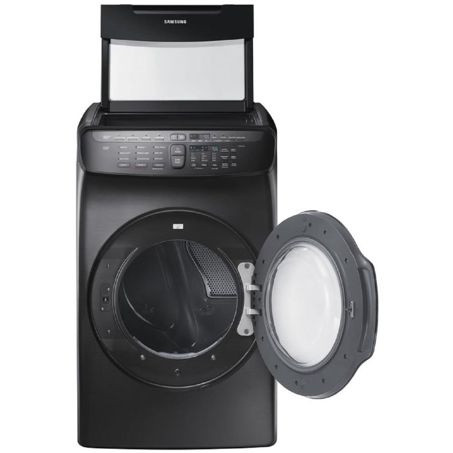 Samsung FlexDry 7.5-cu ft Electric Dryer (Black Stainless Steel)