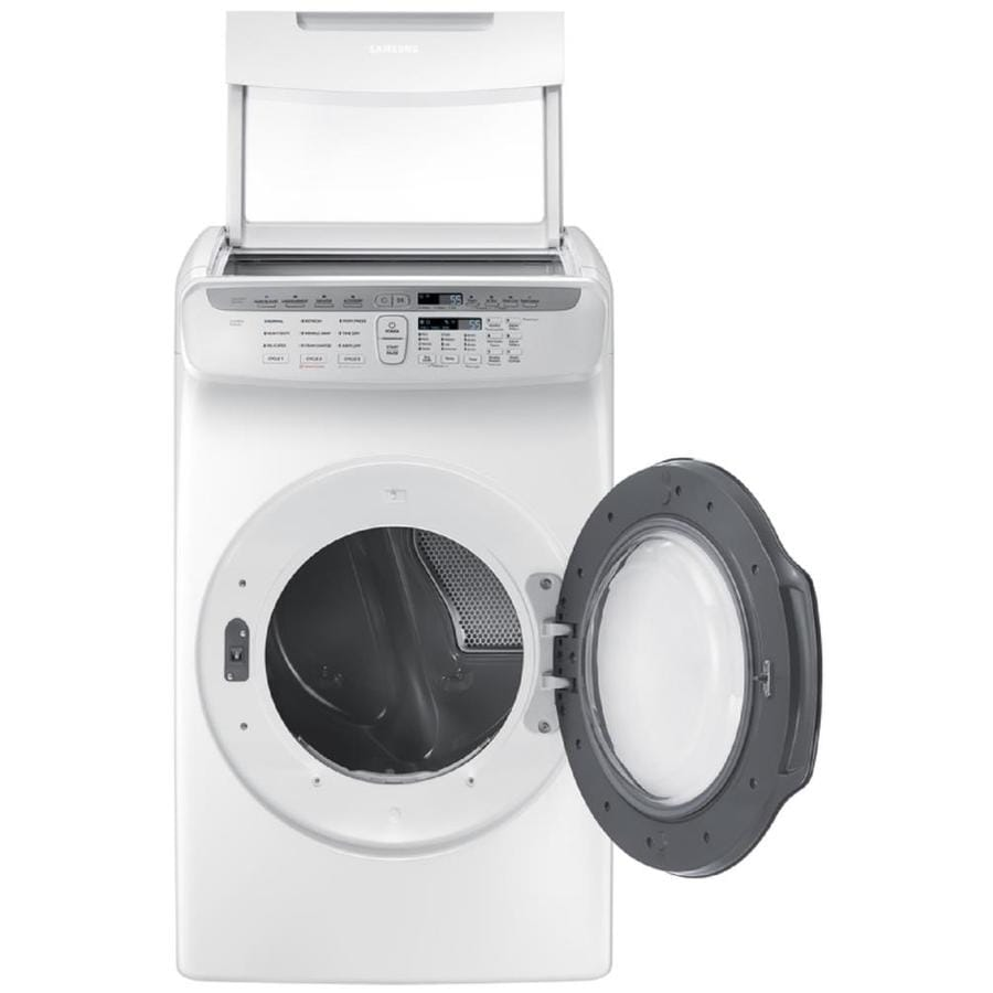 Samsung FlexDry 7.5-cu ft Electric Dryer (White)
