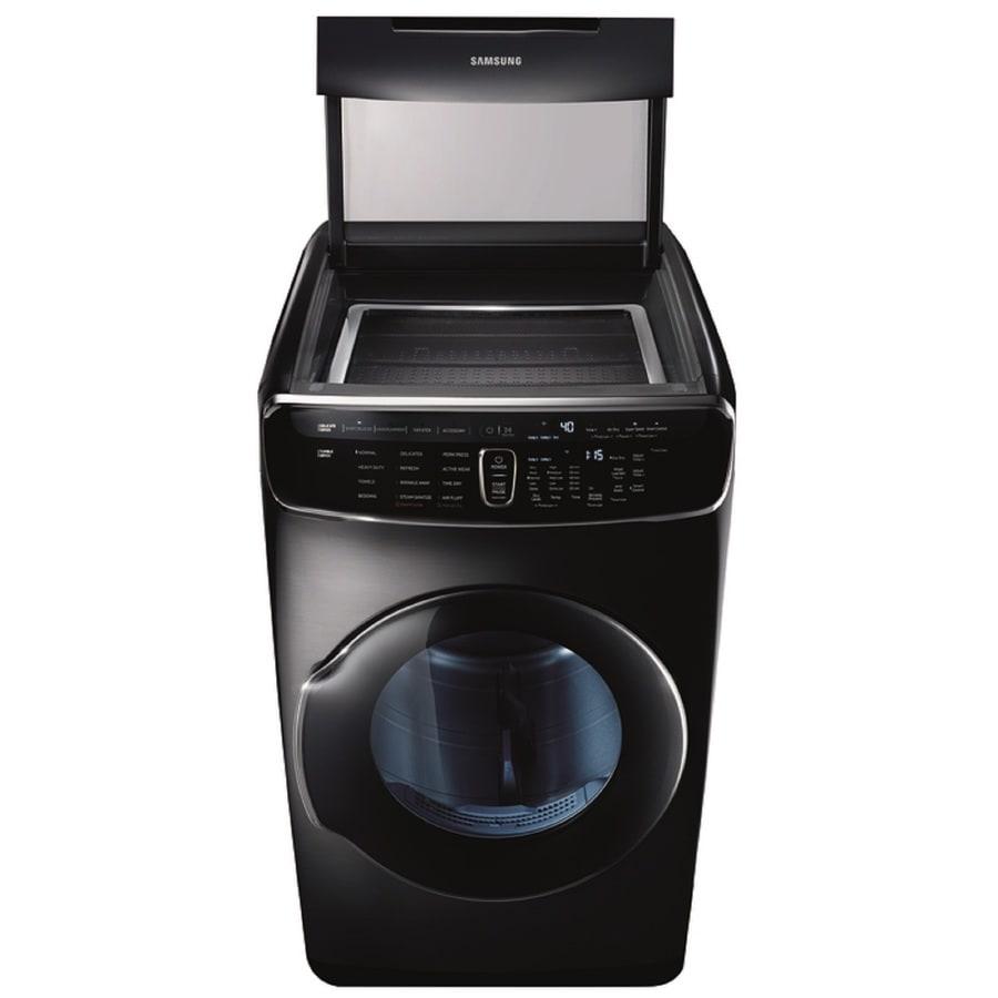 Samsung FlexDry 7.5-cu ft Gas Dryer (Black Stainless Steel)