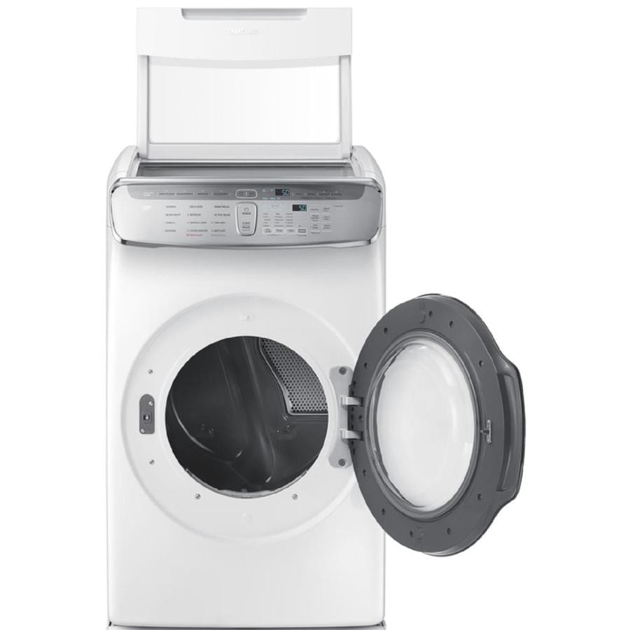 Samsung FlexDry 7.5-cu ft Gas Dryer (White)