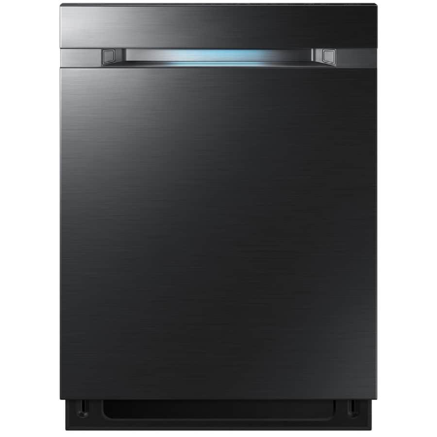 Samsung WaterWall 42 Decibel Built In Dishwasher (Black Stainless Steel)  (Common
