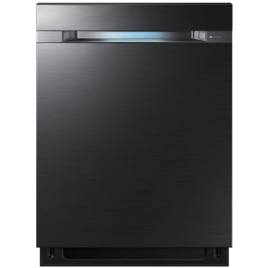 Samsung WaterWall 38-Decibel Built-In Dishwasher (Black stainless steel) (Common: 24-in; Actual: 23.875-in) ENERGY STAR