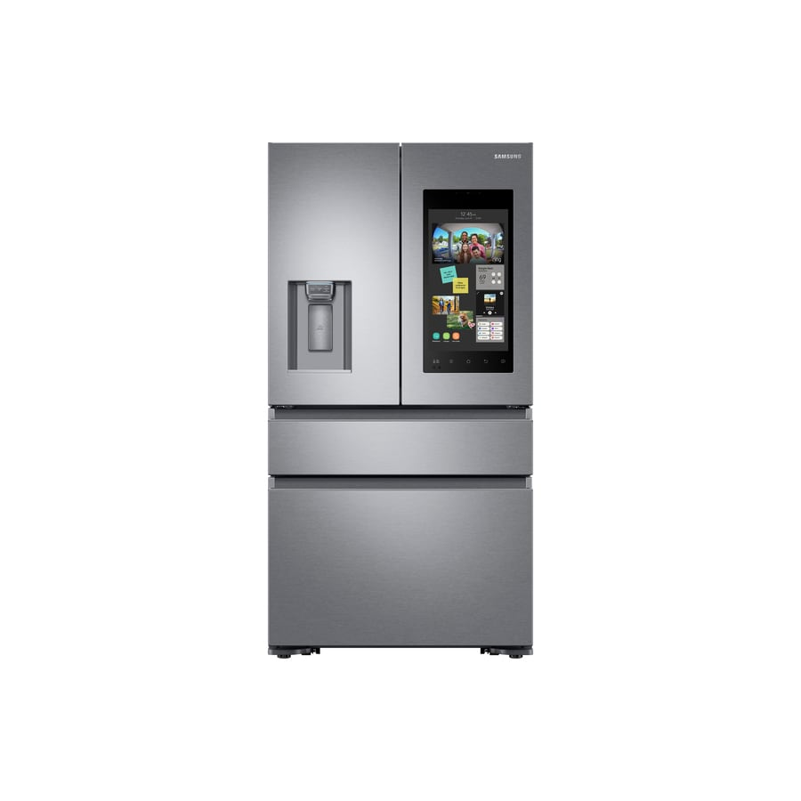 Samsung Family Hub 22.2-cu ft 4-Door Counter-Depth French Door Refrigerator with Ice Maker (Fingerprint-Resistant Stainless steel) ENERGY STAR