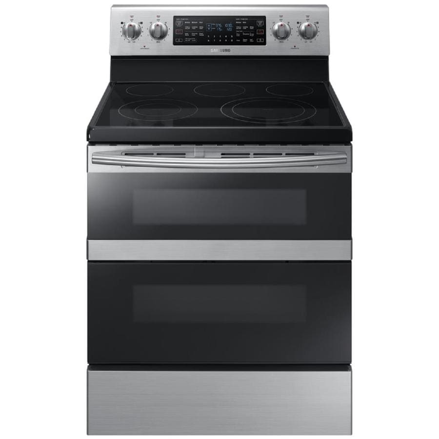 Lowes cooktops 36 inch - Samsung Flex Duo With Dual Door Smooth Surface Freestanding 5 Element 5 9 Cu Ft