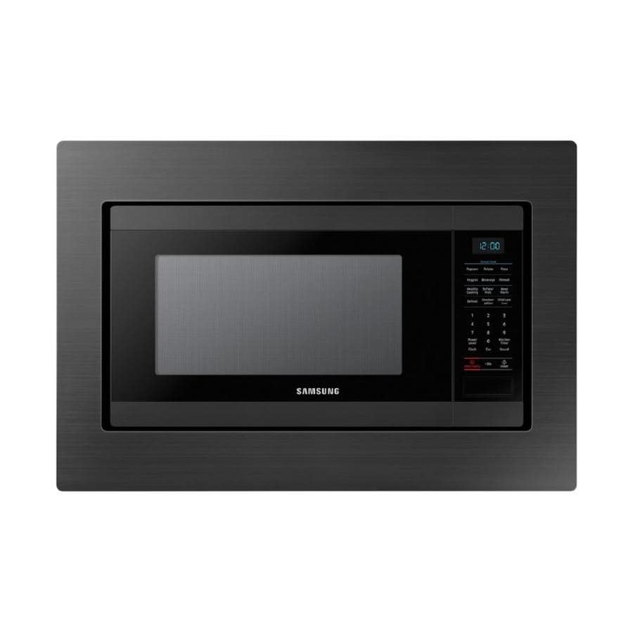 Samsung 1 9 Cu Ft 950 Watt Countertop Microwave Fingerprint Resistant Black Stainless