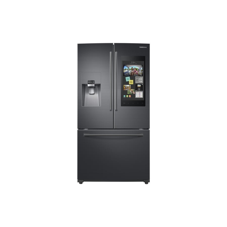 Samsung Family Hub 24.2-cu ft French Door Refrigerator with Ice Maker (Black stainless steel) ENERGY STAR
