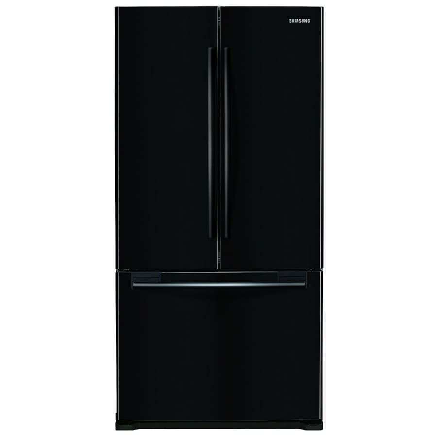 Samsung 17.5-cu ft 3-Door Counter-Depth French Door Refrigerator with Single Ice Maker (Black)