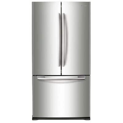 Samsung 17.5-cu ft Counter-depth French Door Refrigerator with Ice Maker (Stainless Steel)
