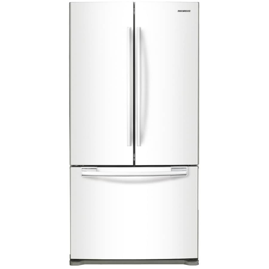 Samsung 17.5-cu ft Counter-Depth French Door Refrigerator with Ice Maker (White)