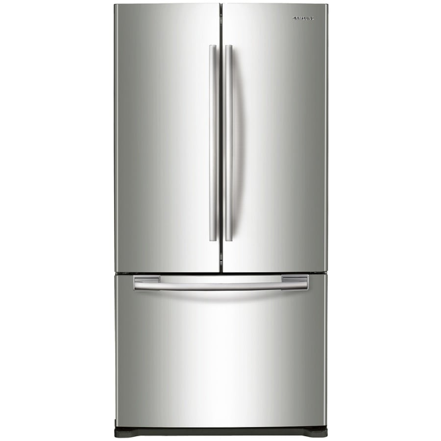 Samsung 19.4-cu ft French Door Refrigerator with Ice Maker (Stainless steel)