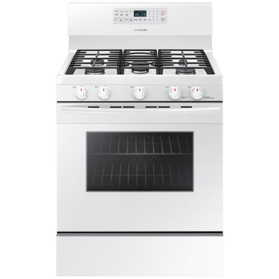 Samsung 5 Burner Freestanding 5.8 Cu Ft Self Cleaning Convection Gas Range (