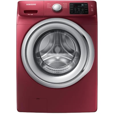 4 5 Cu Ft High Efficiency Stackable Front Load Washer Merlot Energy Star