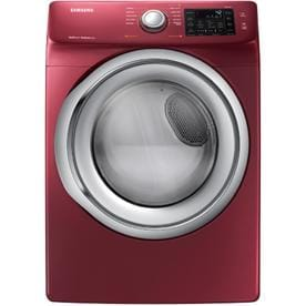 Samsung 7 5 Cu Ft Stackable Electric Dryer Merlot